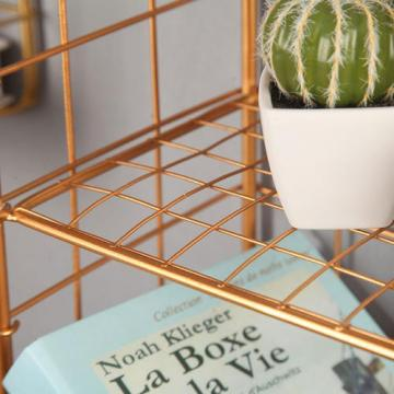 Metal Lemon Green Color Storage Wire Basket Metal Mount Space Clothing Classic Storage Shelf