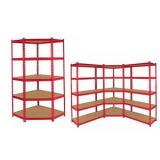 "New Muscle Rack 5-Shelf Steel Shelving 48""W x 24""D x 72""H 